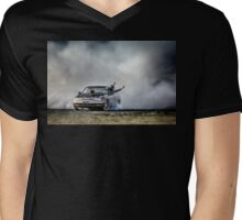 EX5LTR Tread Cemetery Burnout Mens V-Neck T-Shirt