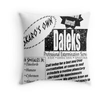 Daleks Professional Services Throw Pillow