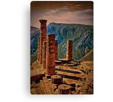 Greece. Delphi. The Ruins of Temple of Apollo. Canvas Print