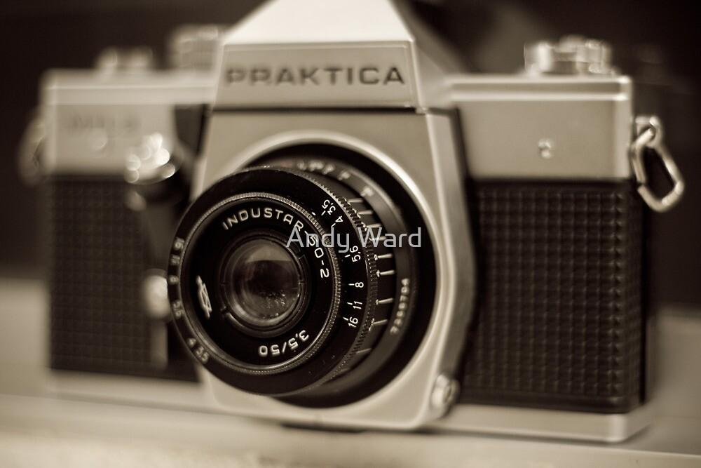 praktica SLR with Russian Industar 50mm lens by harper white