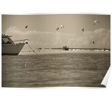 Noosa River on a lazy Sunday afternoon summer Poster