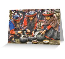 The Color Of Chinchero Greeting Card