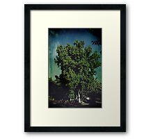 Happy Tree Monster Framed Print