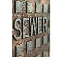 sewer drain Sunrise Beach  Photographic Print