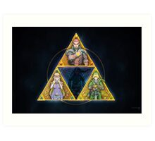 The Triforce... and a bit of darkness Art Print
