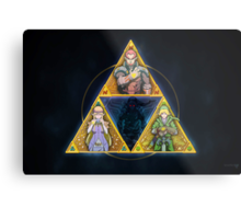 The Triforce... and a bit of darkness Metal Print