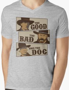 The Good, The Bad, And The Doc Mens V-Neck T-Shirt