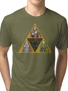 The Triforce... and a bit of darkness Tri-blend T-Shirt