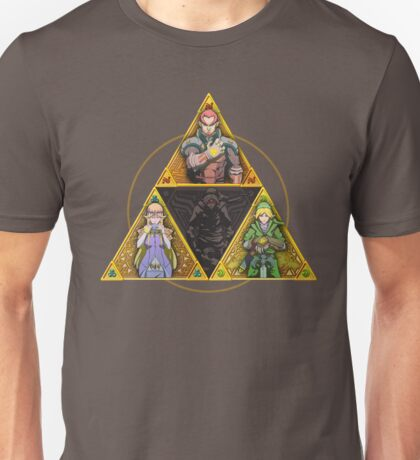 The Triforce... and a bit of darkness Unisex T-Shirt