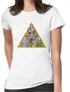 The Triforce... and a bit of darkness Womens Fitted T-Shirt