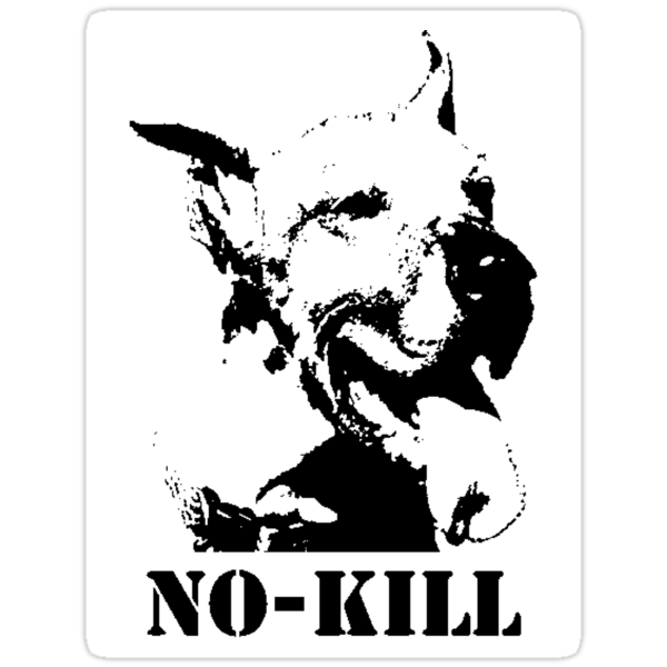 Finding Art - NO-KILL (STICKER) by Anthony Trott