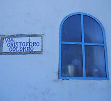 Capri window, blue Columbo by CristinaMontoya