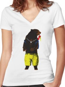 Banjo-Kazooie In The Wild Women's Fitted V-Neck T-Shirt