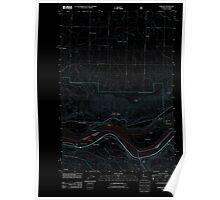 USGS Topo Map Washington Wishram 20110708 TM Inverted Poster