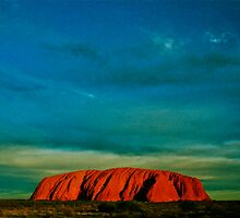 *Wild Sky At Sunset Over Uluru* by Ronald Rockman