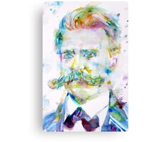 FRIEDRICH NIETZSCHE watercolor portrait Canvas Print
