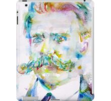FRIEDRICH NIETZSCHE watercolor portrait iPad Case/Skin