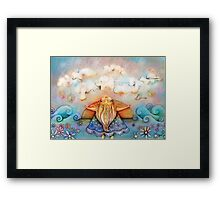 summer clouds Framed Print