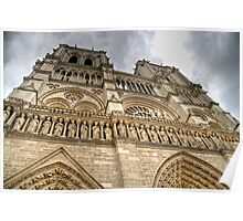 Storm clouds over Notre Dame Poster