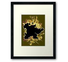 Super Smash Bros Yellow Bowser Silhouette Framed Print