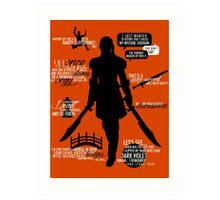 Dragon Age - Zevran Quotes Art Print