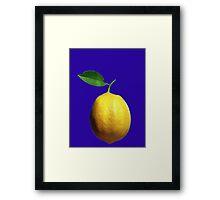 This is a lemon Framed Print