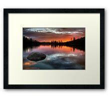 Burning Calm Framed Print