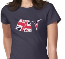 his 'n hers - union jack, star & stripes Womens Fitted T-Shirt