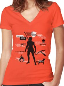 Fenris - Dragon Age Women's Fitted V-Neck T-Shirt