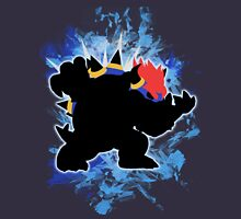 Super Smash Bros. Blue Bowser Silhouette Unisex T-Shirt