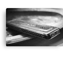 Old harmonica Canvas Print