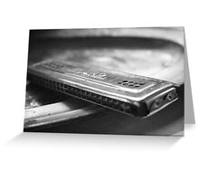 Old harmonica Greeting Card