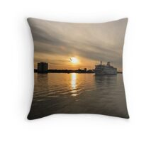 Bound for France Throw Pillow