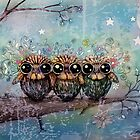 three little night owls by © Cassidy (Karin) Taylor