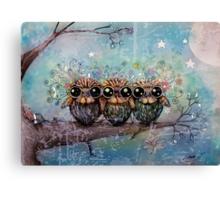 three little night owls Canvas Print