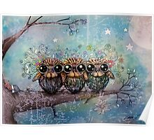 three little night owls Poster