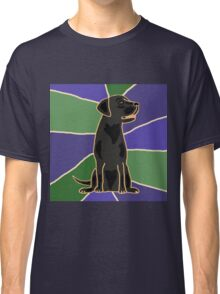 Fun Black Labrador Retriever Art Abstract Classic T-Shirt