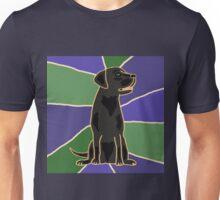 Fun Black Labrador Retriever Art Abstract Unisex T-Shirt