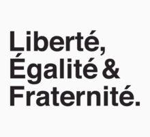 Liberté,  Égalité & Fraternité. Kids Clothes