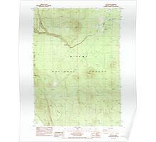 USGS Topo Map Oregon Sun Pass 281698 1985 24000 Poster