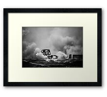 REARENDED Motorfest Burn Out Framed Print