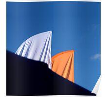 White & Orange Poster