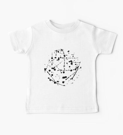 Modern ink spash pattern Baby Tee