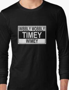 Timey Wimey Long Sleeve T-Shirt