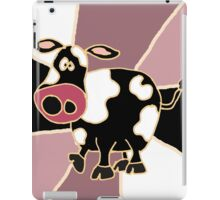 Funky Black and White Cow Abstract Art Original iPad Case/Skin