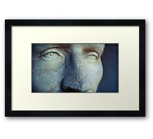 looking past tomorrow, he never wept Framed Print