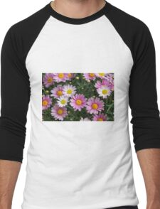 pink daisy Men's Baseball ¾ T-Shirt