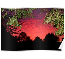 sky on fire Poster