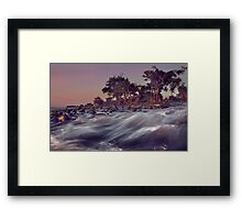 Flow Of Water, Rocks And Trees Framed Print