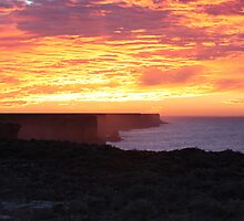 Bunda Cliffs Sunrise Nullarbor N.P by Paul Birch